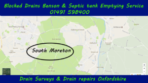 Blocked drains and septic tank emptying services South Moreton