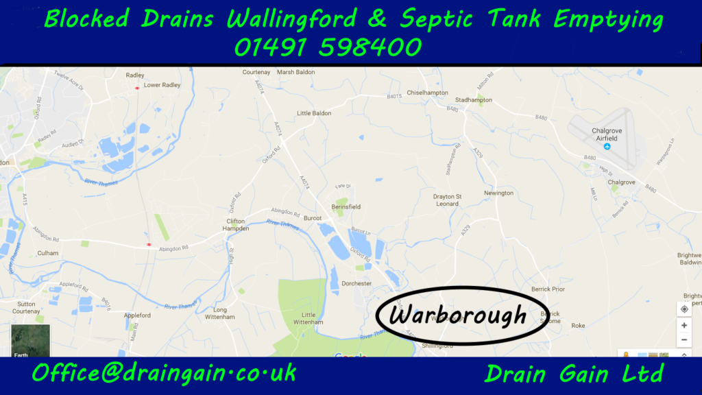 Blocked drains and drain unblocking Warborough