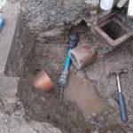 Water main burst repair